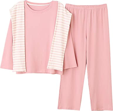 Conjunto Pijama Mujer Invierno Algodón Grueso Dos Piezas ...