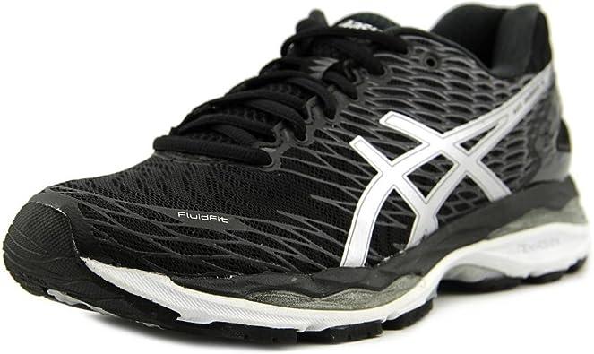 Asics Gel Nimbus 18 Zapatillas de correr para hombre, Multi (Negro-plateado-carbono), 42 EU: Amazon.es: Zapatos y complementos