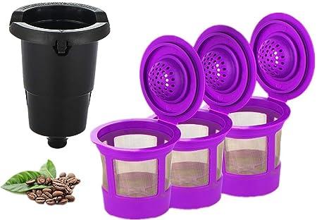 Maxware - Juego de 3 filtros de café recargables reutilizables ...
