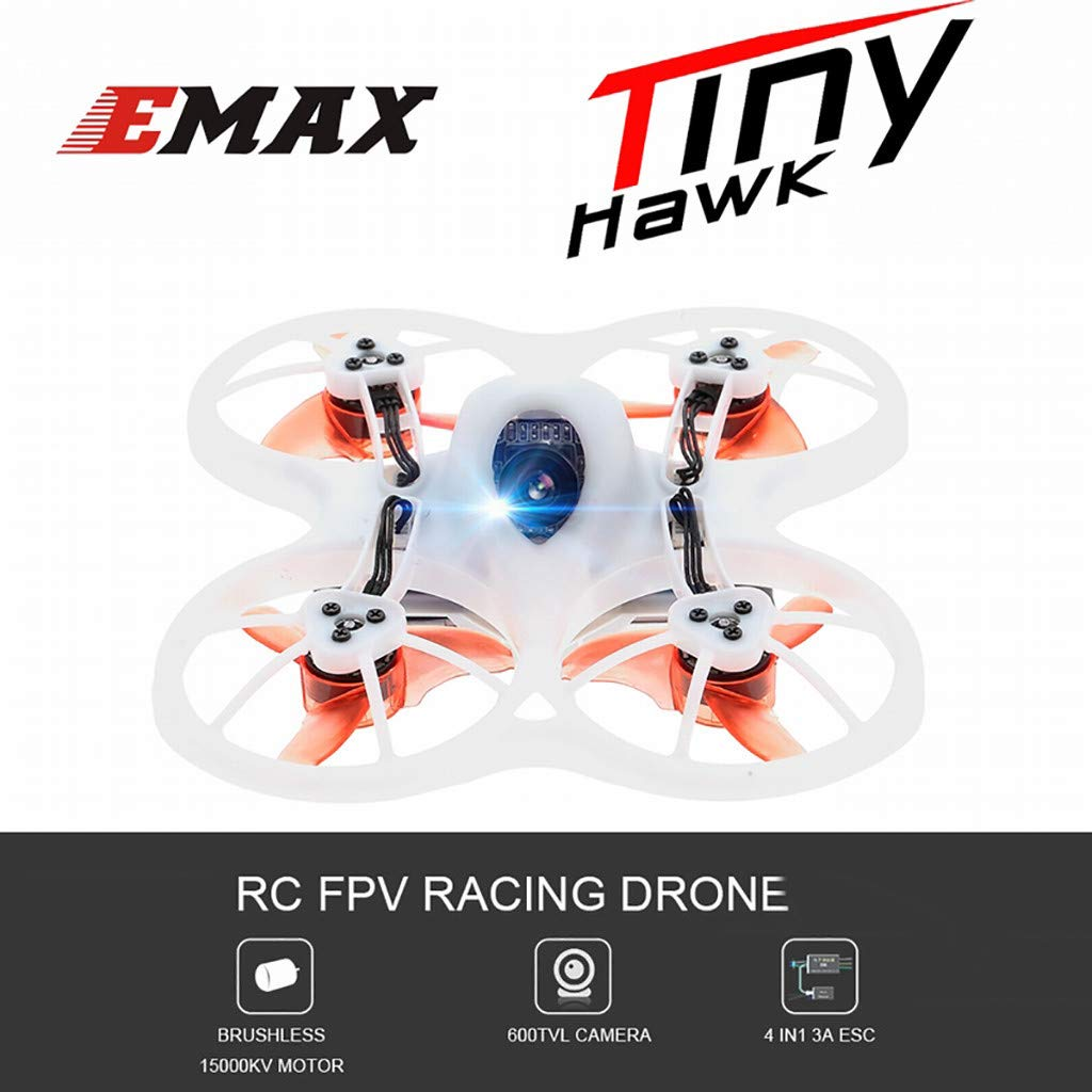 LuminitA EMAX Tiny Receiver Brushless Micro Indoor Racing Drone Whoop 75mm Ready to Fly FPV Beginners Durable Inverted Motors Full Acro Level Horizon Mode by LuminitA (Image #2)