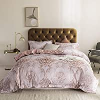 Simple&Opulence 100% Polyester Duvet Cover Set Twin with Zipper Closure,Lightweight Reversible Floral Microfiber Bedding…
