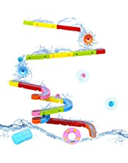 Symiu Juguete de Baño Pista Canicas Circuito Bolas Juegos de Agua Bañera Bebe para Niños 18