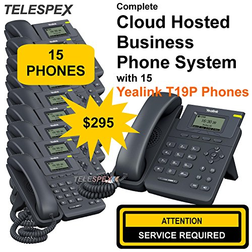 ***LIMITED TIME OFFER - BUY 5 VOIP PHONES, GET 10 FREE - TELESPEX Business Phone System with 15 Phones - (800) ()