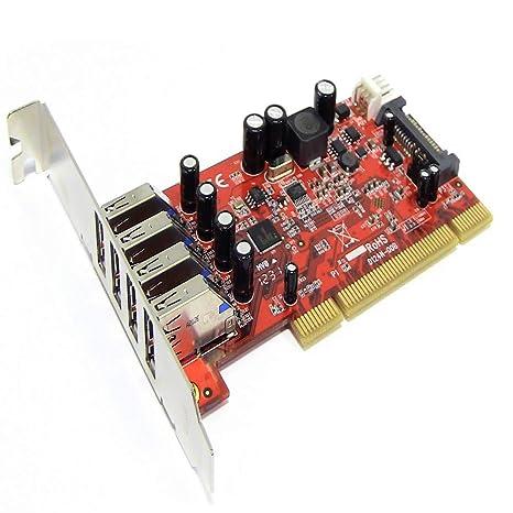 BeMatik - Tarjeta PCI a SuperSpeed USB 3.0 de 4 puertos ...