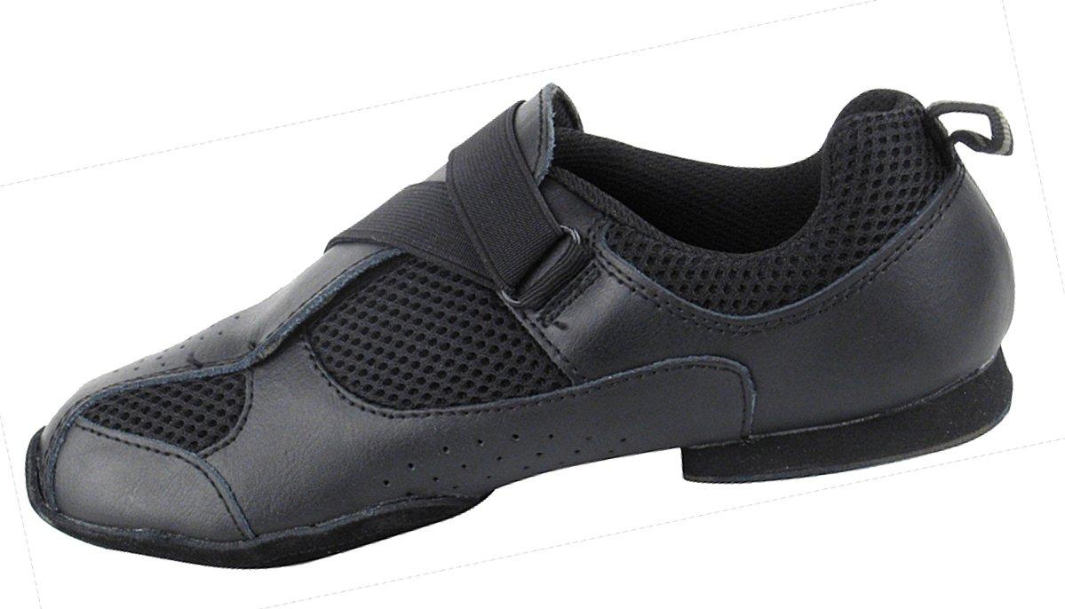 Very Fine Men's Women's Salsa Ballroom Latin Zumba Hip Hop Dance Sneakers Style VFSN009 Bundle with Dance Shoe Wire Brush, Black 12 M US (US Women 12/ US Men 10.5) by Very Fine Dance Shoes (Image #3)