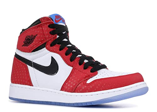 Amazon.com | Air Jordan 1 Ret Hi Og (Gs) Spiderman - 575441-602 - Size 7 | Basketball
