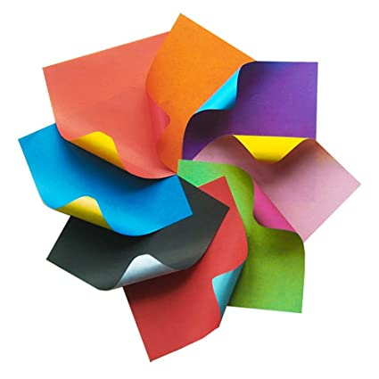 Amazon Dahey 6 Inches Origami Paper Double Sided Assorted