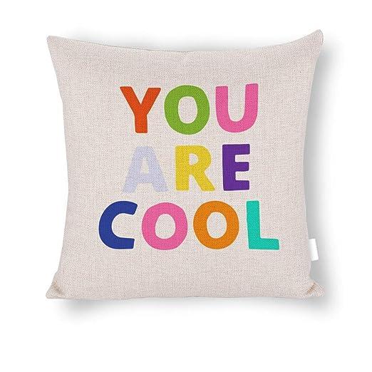 wendana Fundas de cojín You Are Magic, de Lino y algodón ...