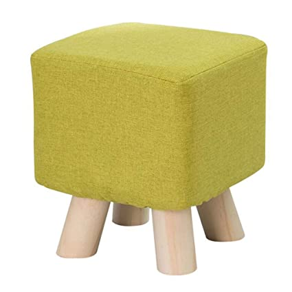 Footstool Ottomans Premium Quality Comfort Solid Wood Footstool Upholstered Footrest Change Shoes Small Bench Ottoman Pouffe