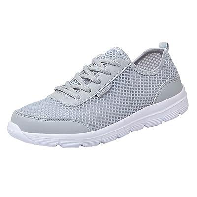 Yying Chaussures de Course Unisexes Chic Légères Mesh Chaussures de Sport à Lacets Outdoor Causual Sneakers Chaussures Pour Hommes et Femmes
