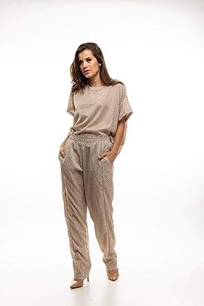 32275dc26 Calça Pijama Bege  Amazon.com.br  Amazon Moda