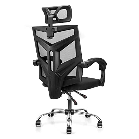Surprising Ergonomic High Back Mesh Office Chair Fansee Home Office Computer Desk Chair Swivel Task Chair With Breathable Seat Cushion Adjustable Headrest Ocoug Best Dining Table And Chair Ideas Images Ocougorg