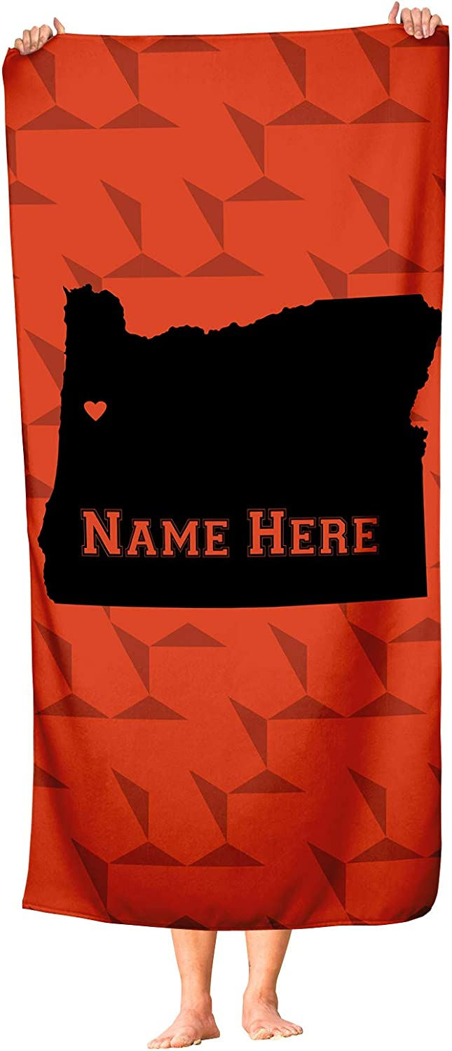 Corvallis Oregon State Pride Custom Beach and Bath Towel Personalized Medium and Large Towels for Adults Kids College Football Basketball Fans