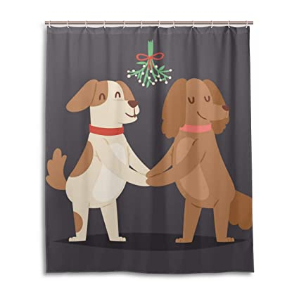 WBKCQB Unisex Dog Friends Shower Curtain Waterproof CurtainFashion And Comfortable60quot