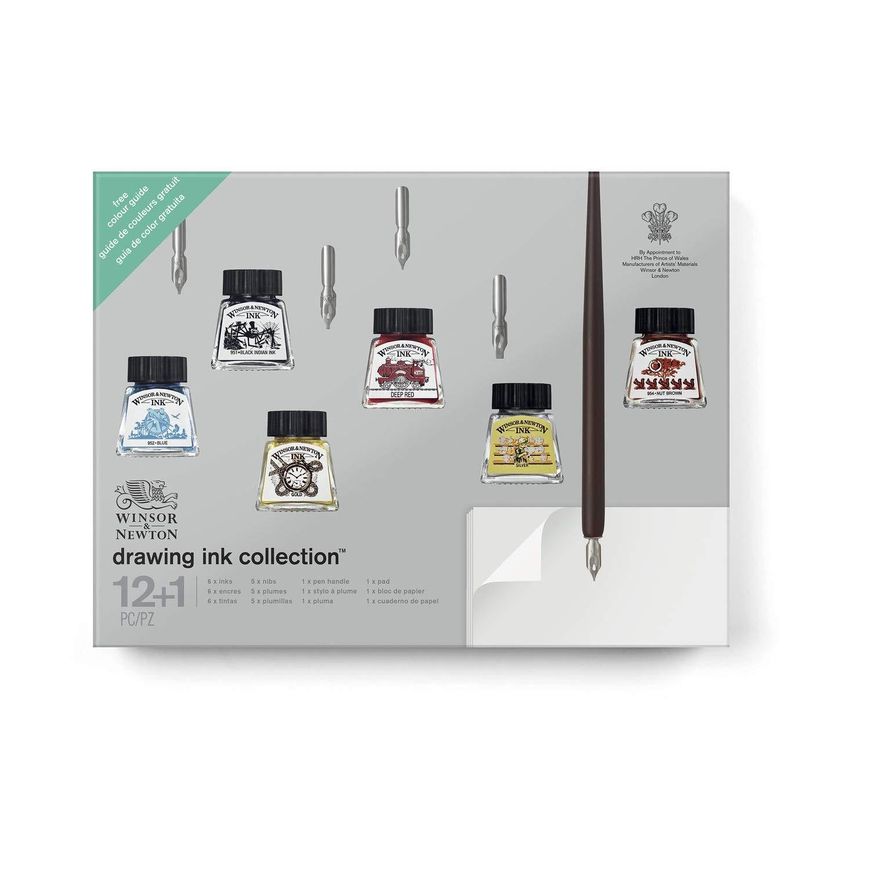 winsor & Newton set regalo inchiostri calligrafia, Multicolore, 13 13 Colart 1190201