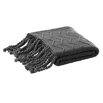 Home, Furniture & Diy Home Decor Piccocasa 100% Cotton Knit Throw Blanket,lightweight Solid Decorative Sofa Throw