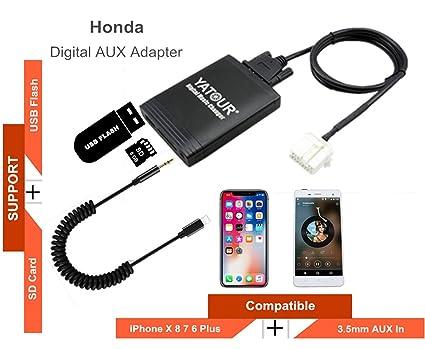 Amazoncom Honda Acura Stereo Aux Adapter Digital Car Audio Input