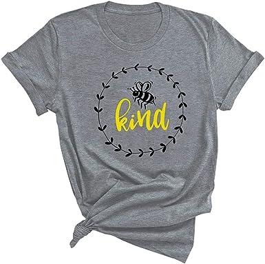 FELZ Camisetas Basicas Mujer Bee Kind Blusas De Mujer ...
