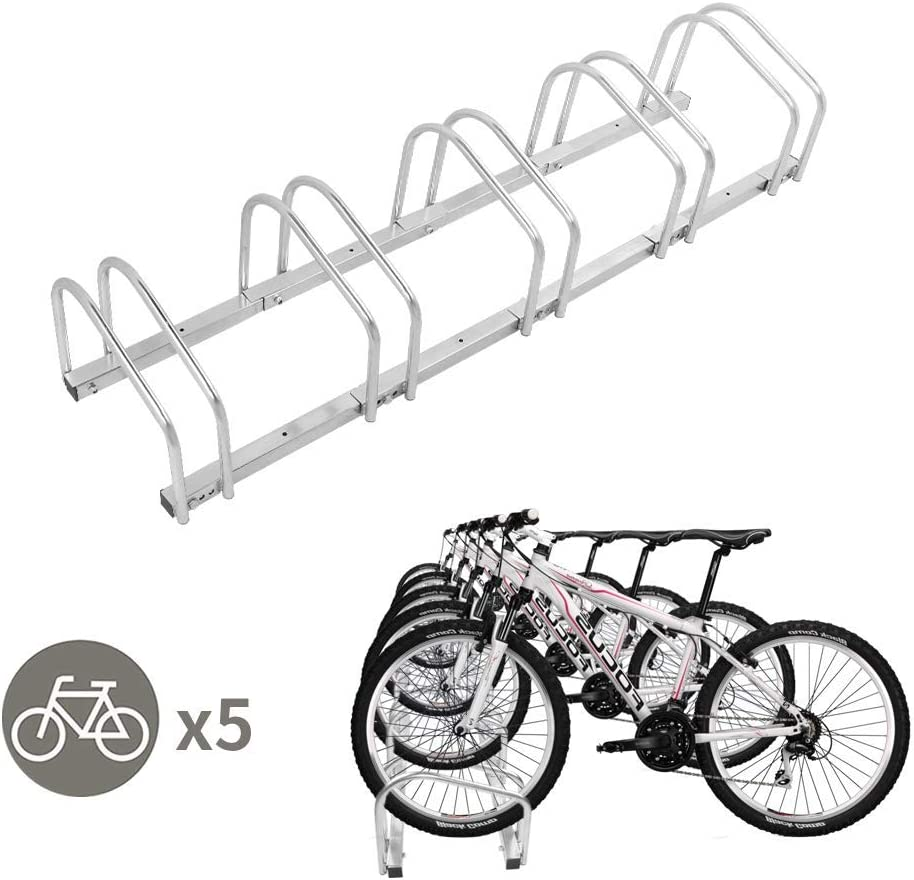LLY Houseware 5 Bicycle Floor Parking Adjustable Storage Stand Bike Rack Parking Garage