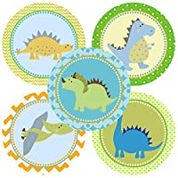 Dinosaur Sticker Labels - Kids Children Boy Girl Birthday Baby Shower Party Supplies - Set of 50