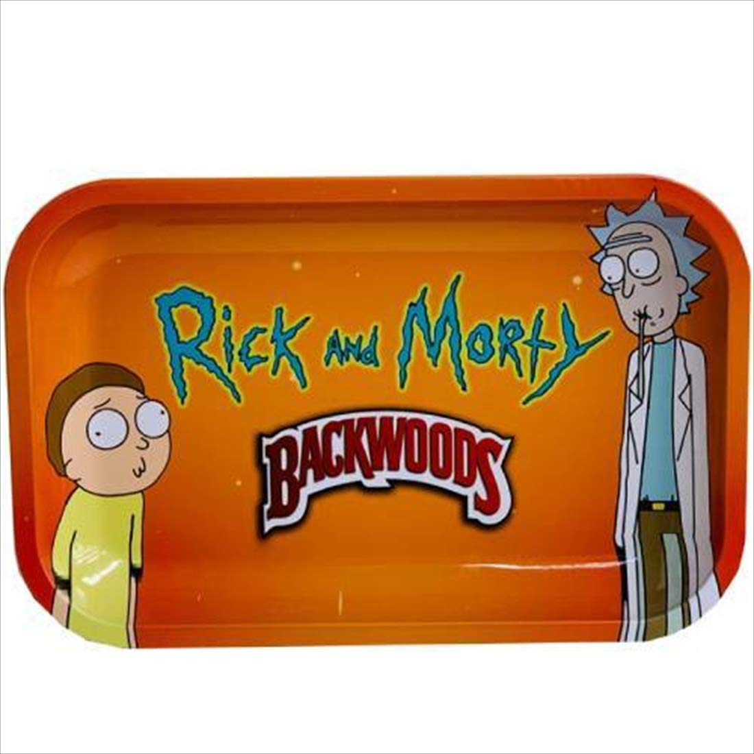 Rolling Tray for Weed in Durable Metal with Vintage Cartoon Design by Simply Works Imports