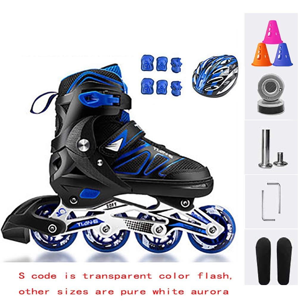 メンズおよびレディスレクリエーションインラインスケート、大学生のライトアップホイールローラースケートインラインスケート (Color : C, Size : XL(EU42-45)) C XL(EU42-45)