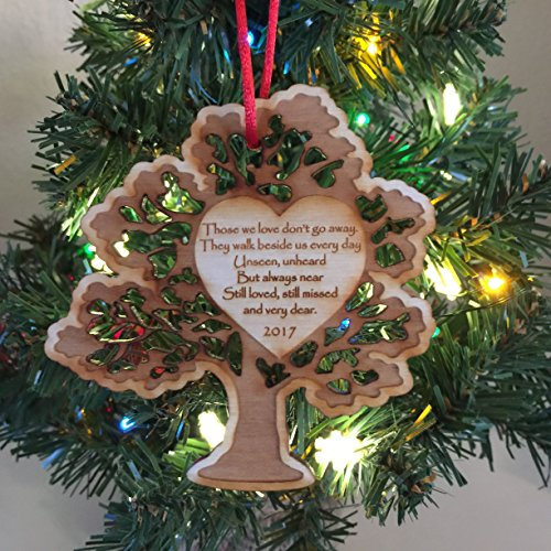 In Memory of a Loved One Christmas Ornament 2018 - Handmade Personalized Ornaments