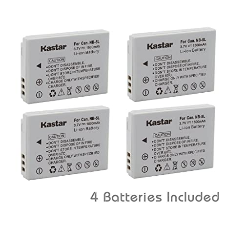 Amazon kastar nb 5l battery 4 pack for canon nb 5l cb kastar nb 5l battery 4 pack for canon nb 5l sciox Images
