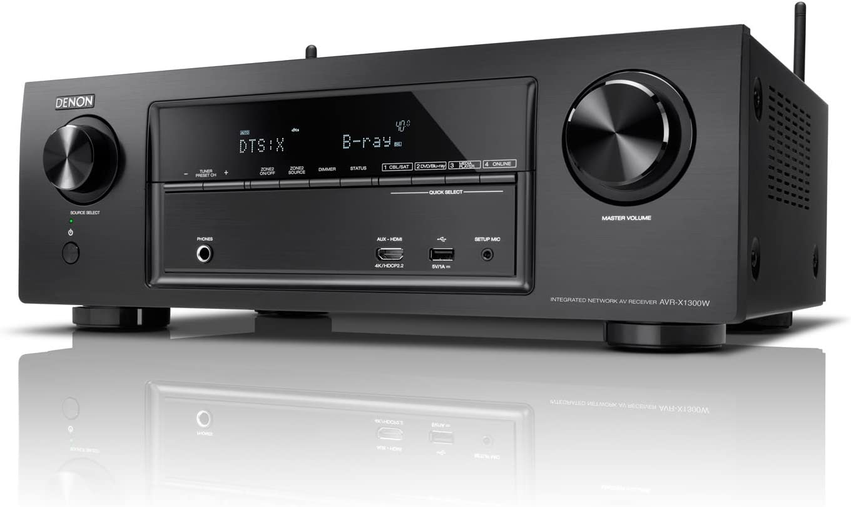 Denon AVR-X1300W 145W 7.1 Surround 3D Negro - Receptor AV (3.5mm, Surround, Am, FM, Alámbrico, AAC, AIFF, ALAC, FLAC, MP3, WAV, WMA, 2160p), Color Negro: Amazon.es: Electrónica