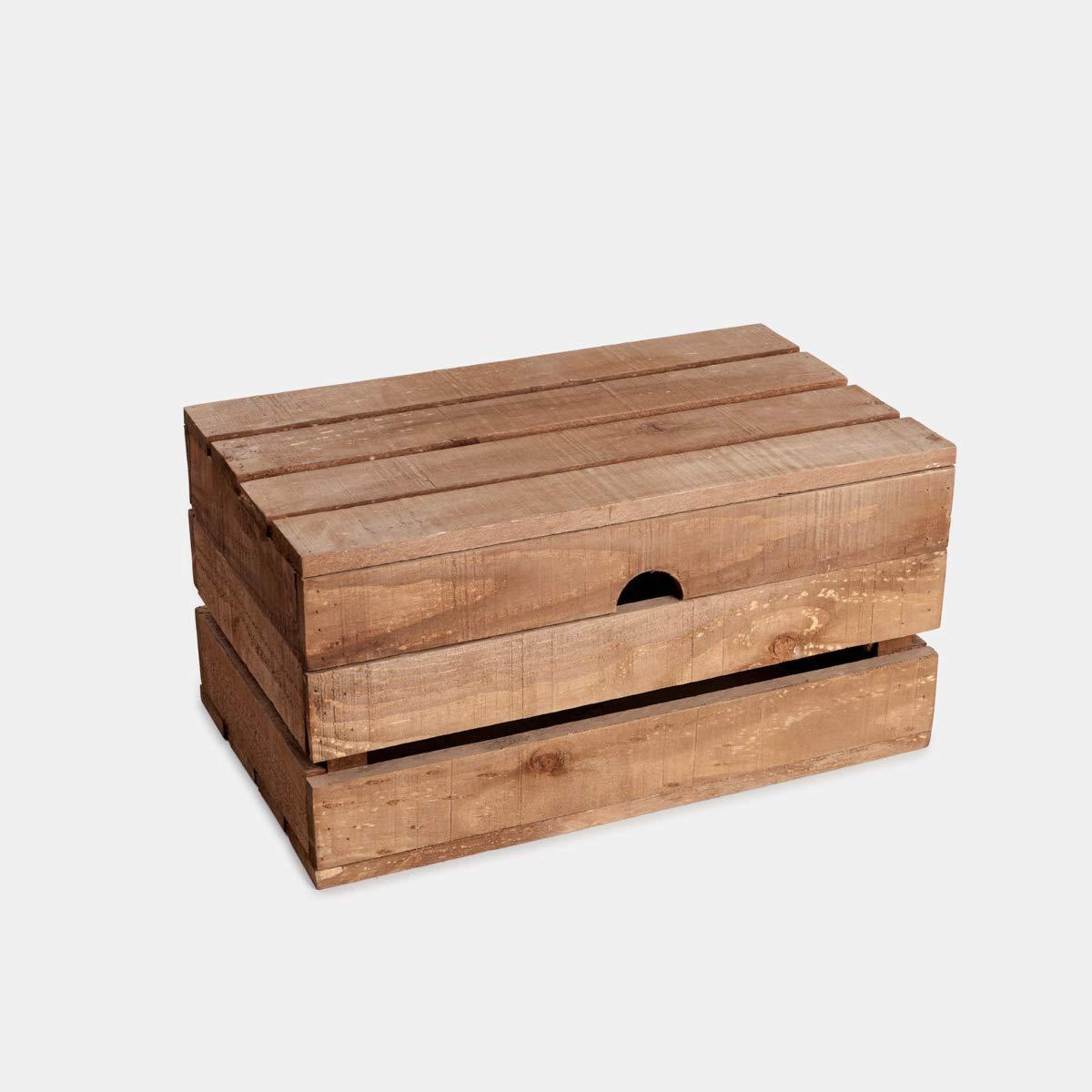 Reabajas oferta prime day Baul, arca, cajon, caja se madera de pino envejecido para almacenar: Amazon.es: Handmade