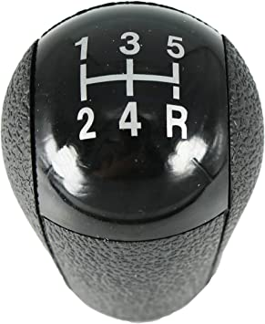5 Speed Gear Stick Shift Knob for Focus 2005-2012 Mondeo MK3 2000-2007 S-MAX 2006-2010 C-MAX 2003-2008 Mustang 2005-2012 Galaxy 2006-2010 Fiesta MK6 2002-2008 Transit 2006-2012 Black