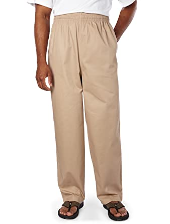 901e6d84a6 CasualMale Big and Tall Cotton Twill Beach Pants at Amazon Men's Clothing  store: