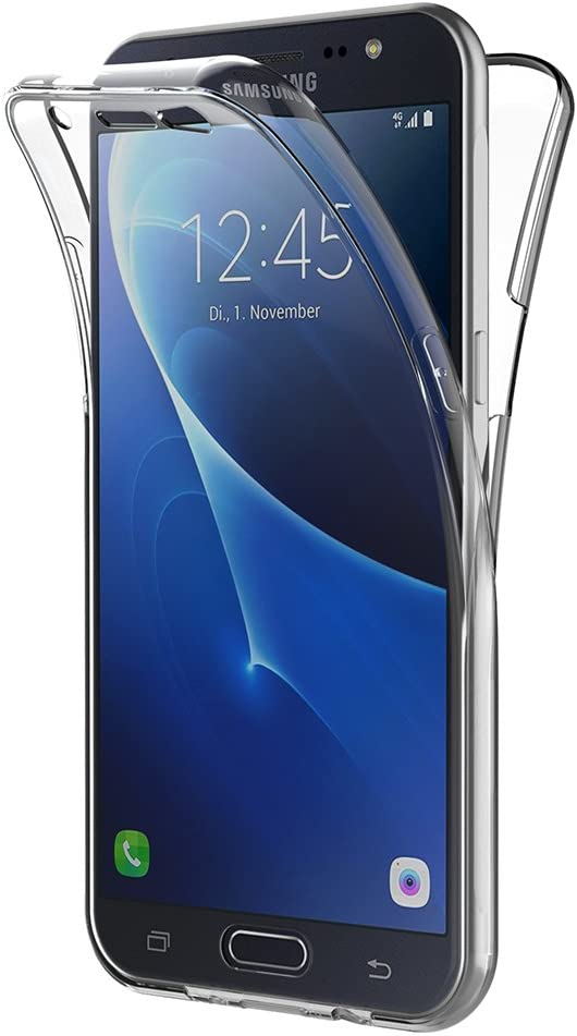 AICEK Funda Samsung Galaxy J7 2016, Transparente Silicona 360°Full Body Fundas para Samsung J7 2016 Carcasa Silicona Funda Case: Amazon.es: Electrónica