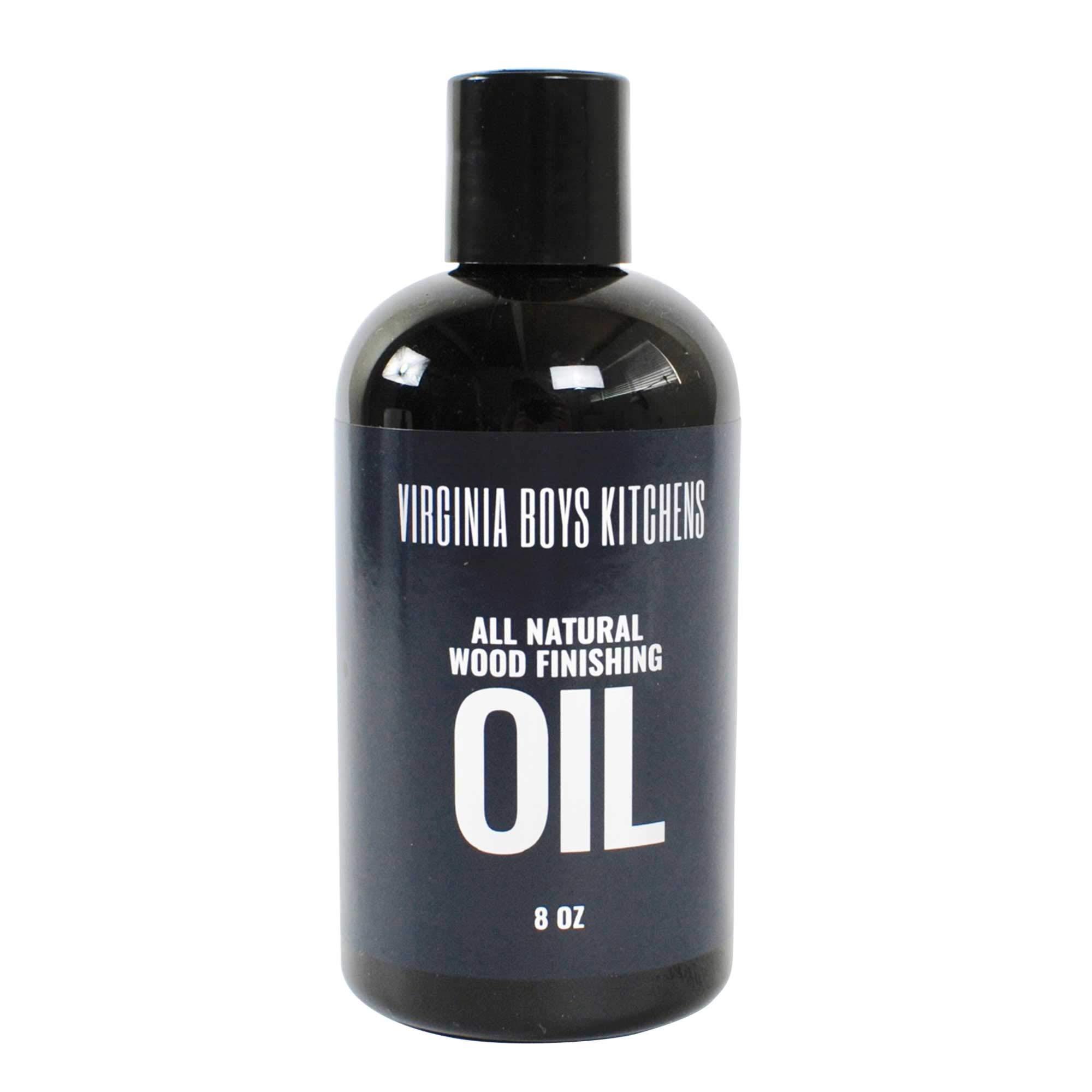 Virginia Boys Kitchens All Natural Wood Seasoning Oil (8 oz Bottle) by Virginia Boys Kitchens