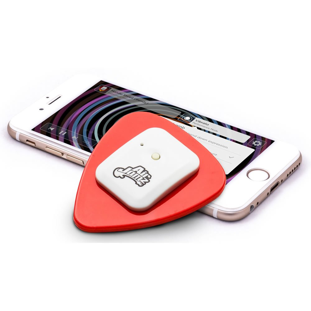 AirJamz App-Enabled Bluetooth Music Toy, Electric Air Guitar and more for your iOS Mobile Phone or Tablet, Red, Powered by Zivix by Zivix (Image #2)
