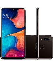 Samsung Galaxy A20 32GB A205G/DS 6.4 inch HD plus 4,000mAh Battery LTE Factory Unlocked GSM Smartphone (International Version, No Warranty) (Black)