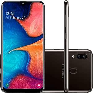 Smartphone Samsung Galaxy A20, 32Gb, Tela 6.4'', Preto, Sm-A205Gzkjzto