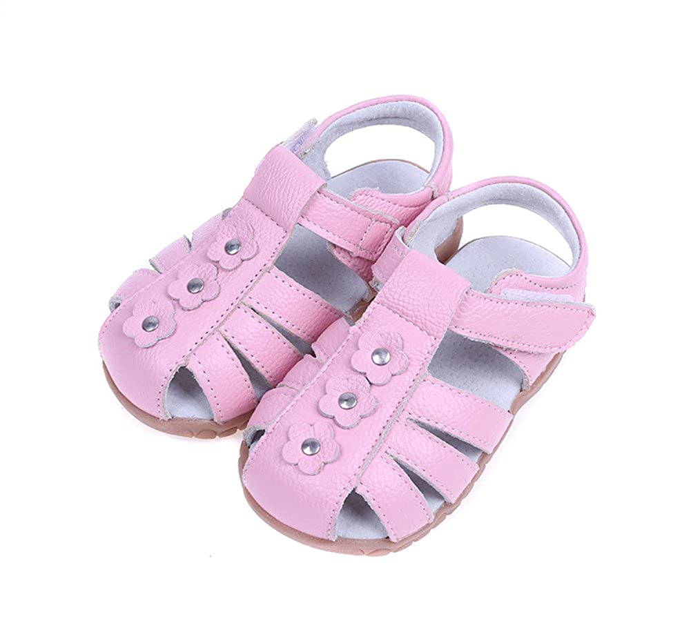 Tuoup Cute Leather Summer Anti-Skid Kids Toddler Sandals for Girls