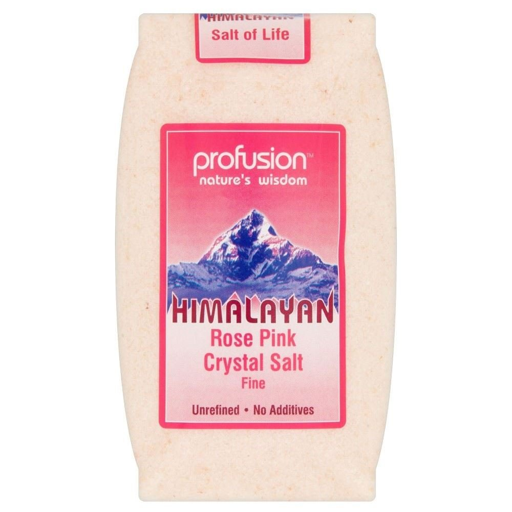Profusion Himalayan Rose Pink Salt Fine (500g) - Pack of 6 by Profusion