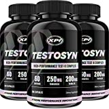Testosyn (3 Pack) - High Performance Testosterone Booster Supplement, 180 Count