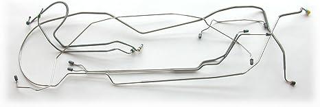 RUBBER GTO WITH FRONT DISCS; FRONT BRAKE FLEX HOSE 69-71/' PONTIAC LEMANS
