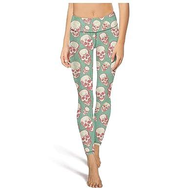 22e04331bb397 MPNue Womens Hhalloween Skull Art Print Sport Yoga Pants Yoga Pants Clothes  Customized Soft