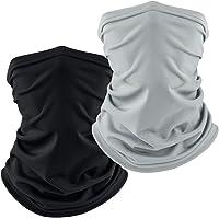 Mugust 2 Pack Braga Cuello Calentador Pañuelos Multifuncional Máscara Bufanda Bandana Elastica Suave para Ciclismo…