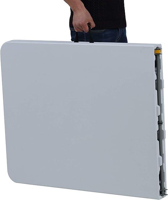 Mesa Plegable Rectangular, 246 x 74 x 74 cm, color blanco, (Tenco ...