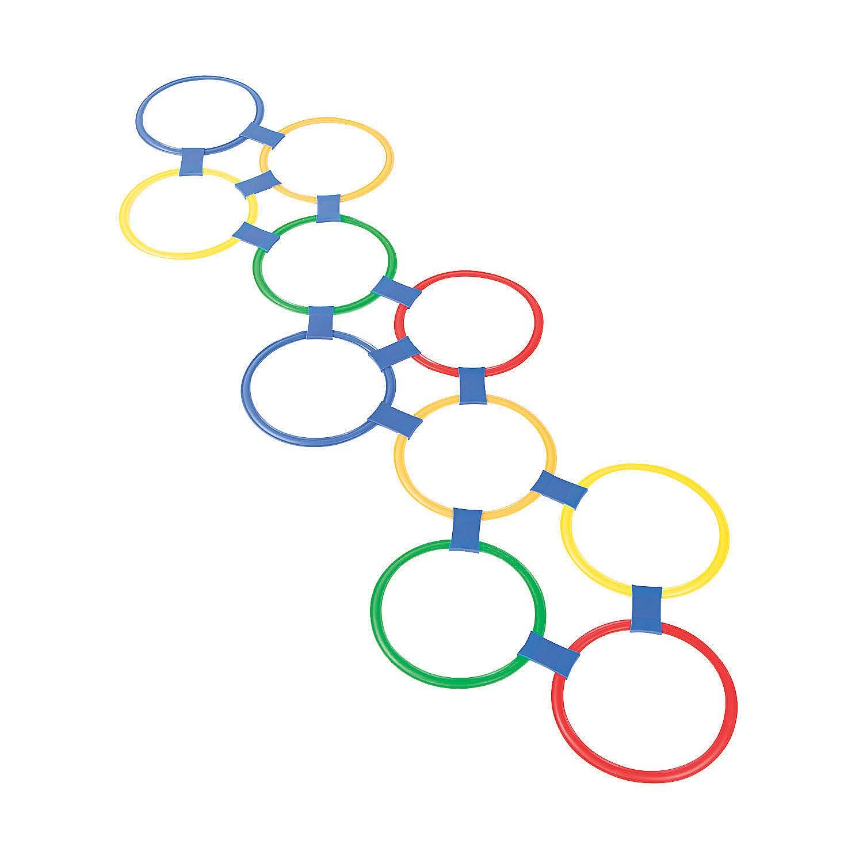 25 Piece Set Plastic Hopscotch Outdoor Ring Game
