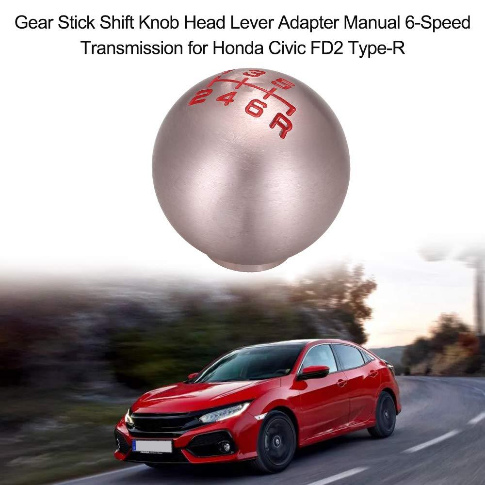 KKmoon Pomello Cambio Leva del Cambio Adattatore a Leva Cambio Manuale a 6 velocit/à per Honda Civic FD2 Tipo-R