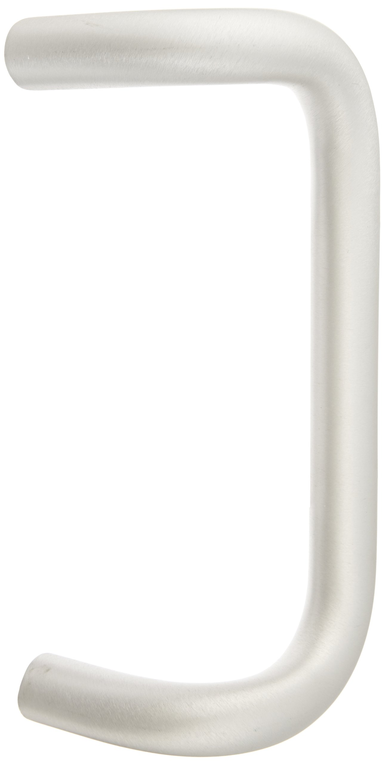 Rockwood BF157AC17.28 Aluminum 90-Degree Offset Door Pull, 1'' Diameter x 9'' Center-to-Center, Concealed Mounting for 1-3/4'' Door, Clear Anodized Finish