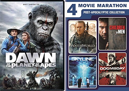 Water Apes Post Apocalyptic Pack WaterWorld / Children of Men / Skyline & Doomsday + Dawn of the Planet of the Apes Movie Marathon Collection