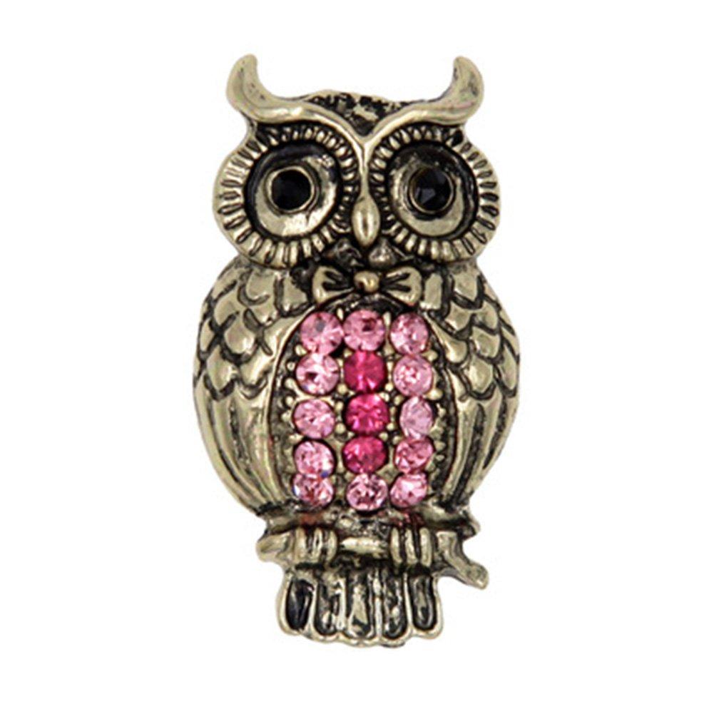 Yodio Rhinestone Owl Brooch Pins for Clothing Decoration