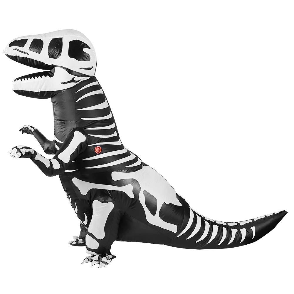 FTVOGUE Adult Dinosaur Inflatable Costume Tyrannosaurus Cosplay Fancy Toy Costume for Halloweens